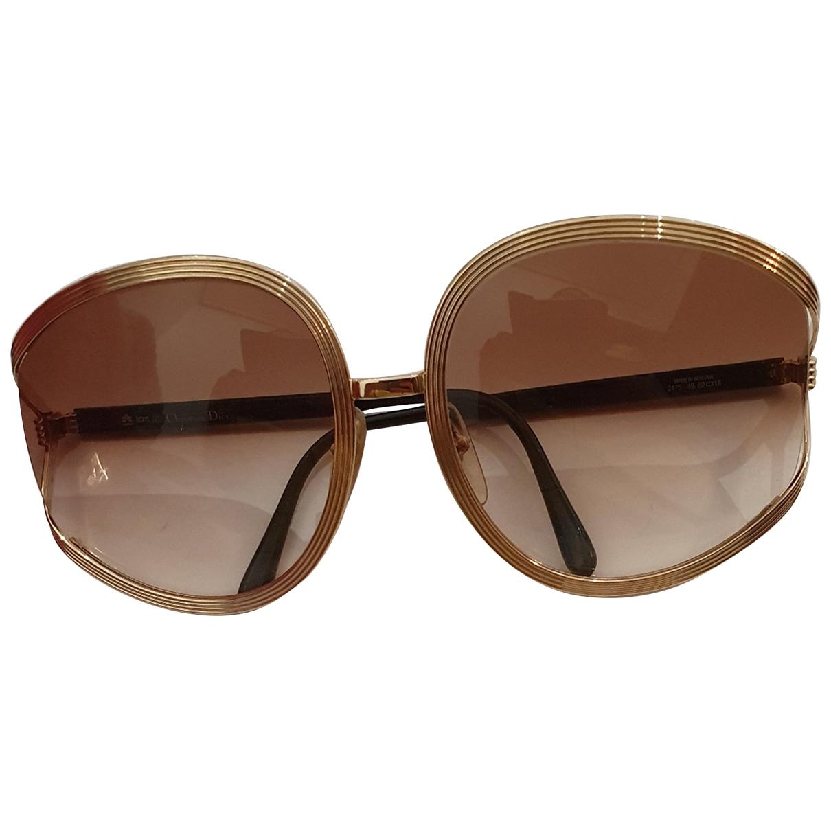 Dior \N Gold Metal Sunglasses for Women \N