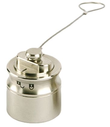 Bulgin , 6000 Female Dust Cap, Shell Size 26mm IP66, IP68, IP69K Rated, with Nickel Finish, Silver