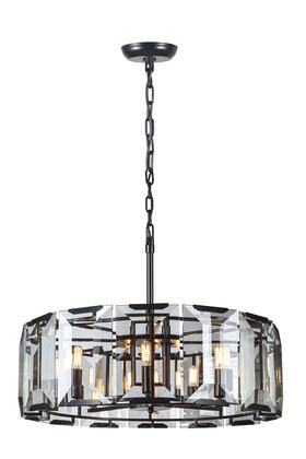 1211D30FB 1211 Monaco Collection Pendant Lamp D: 30in H: 12in Lt: 8 Flat Black (Matte)