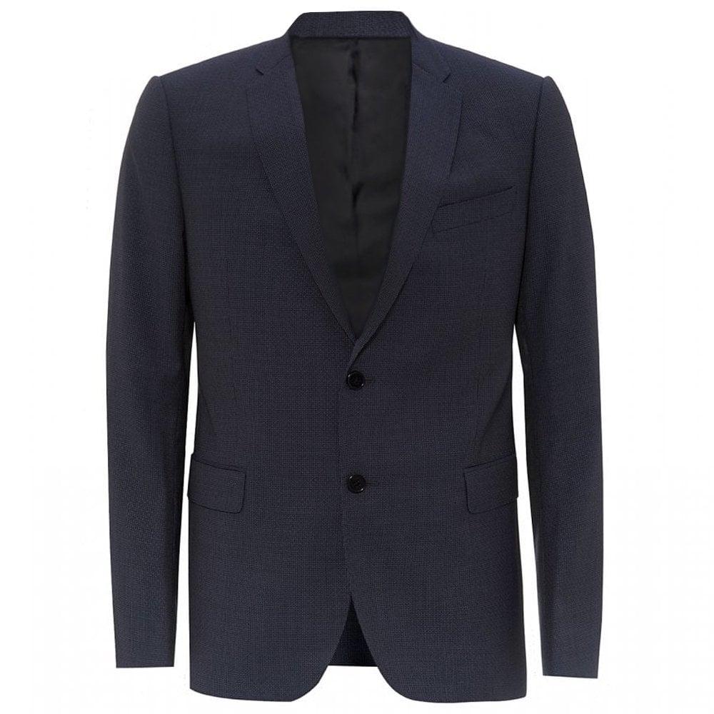 Armani Collezioni Textured Navy Blazer Colour: NAVY, Size: EXTRA LARGE