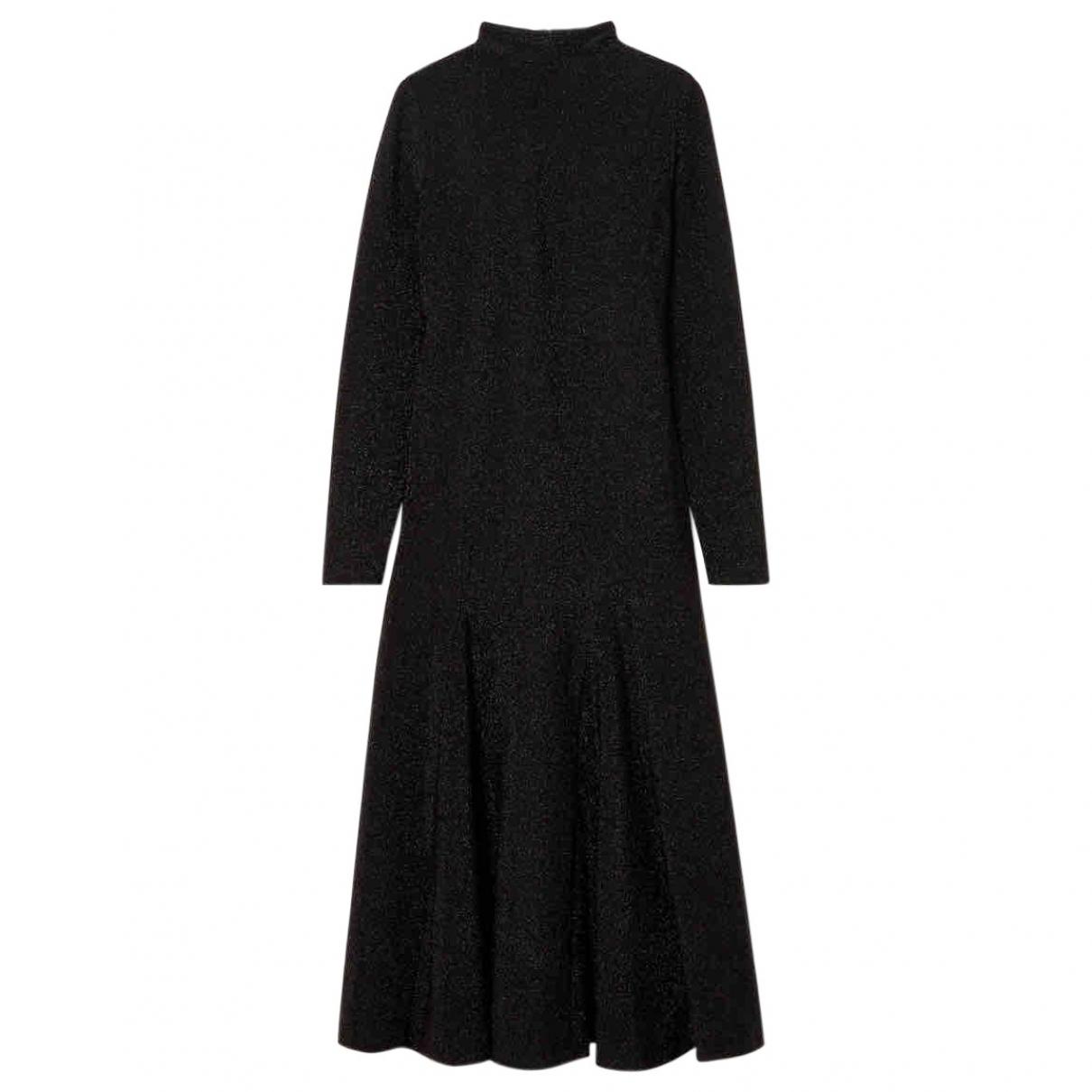 Ganni - Robe   pour femme en a paillettes - noir