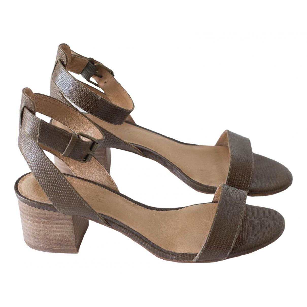 Sandalias romanas de Cuero Madewell