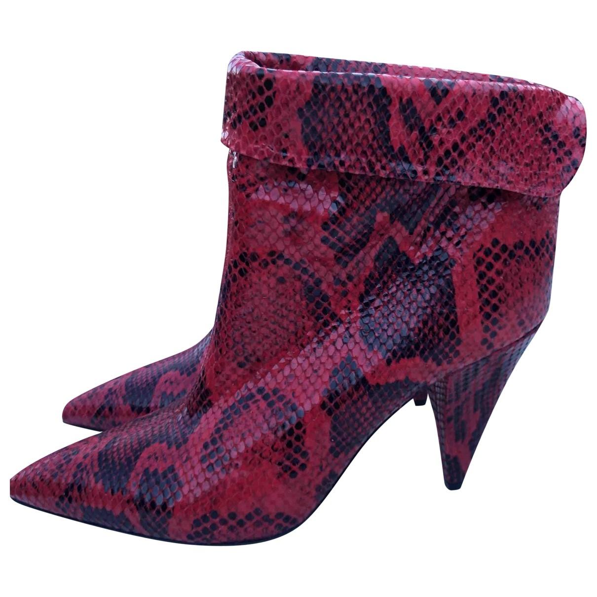 Isabel Marant - Boots   pour femme en python - rouge