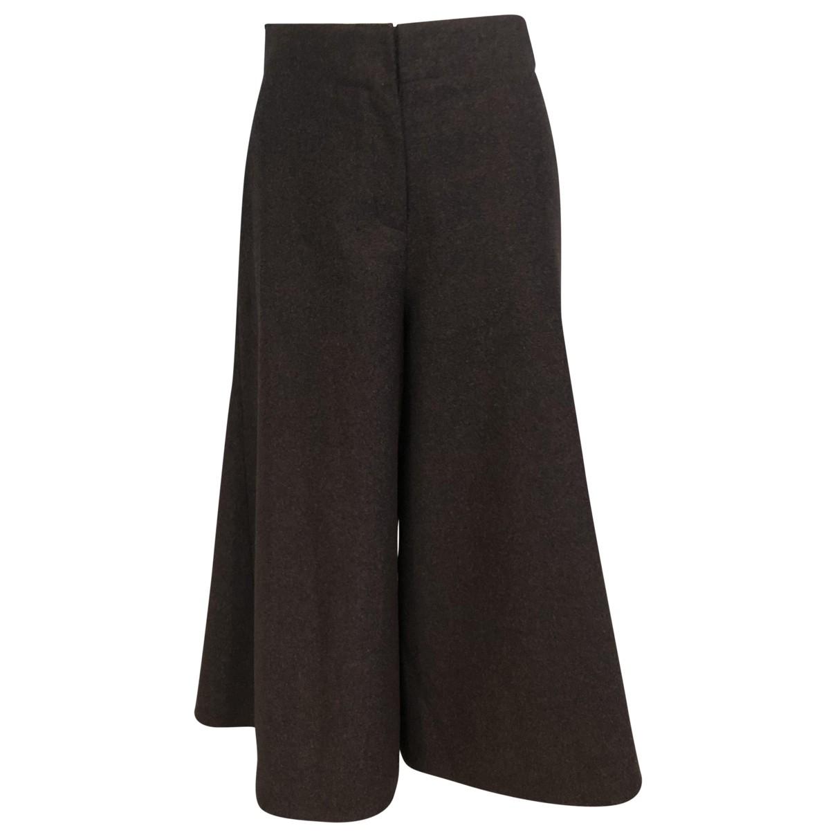Lanvin \N Purple Wool Trousers for Women XS International