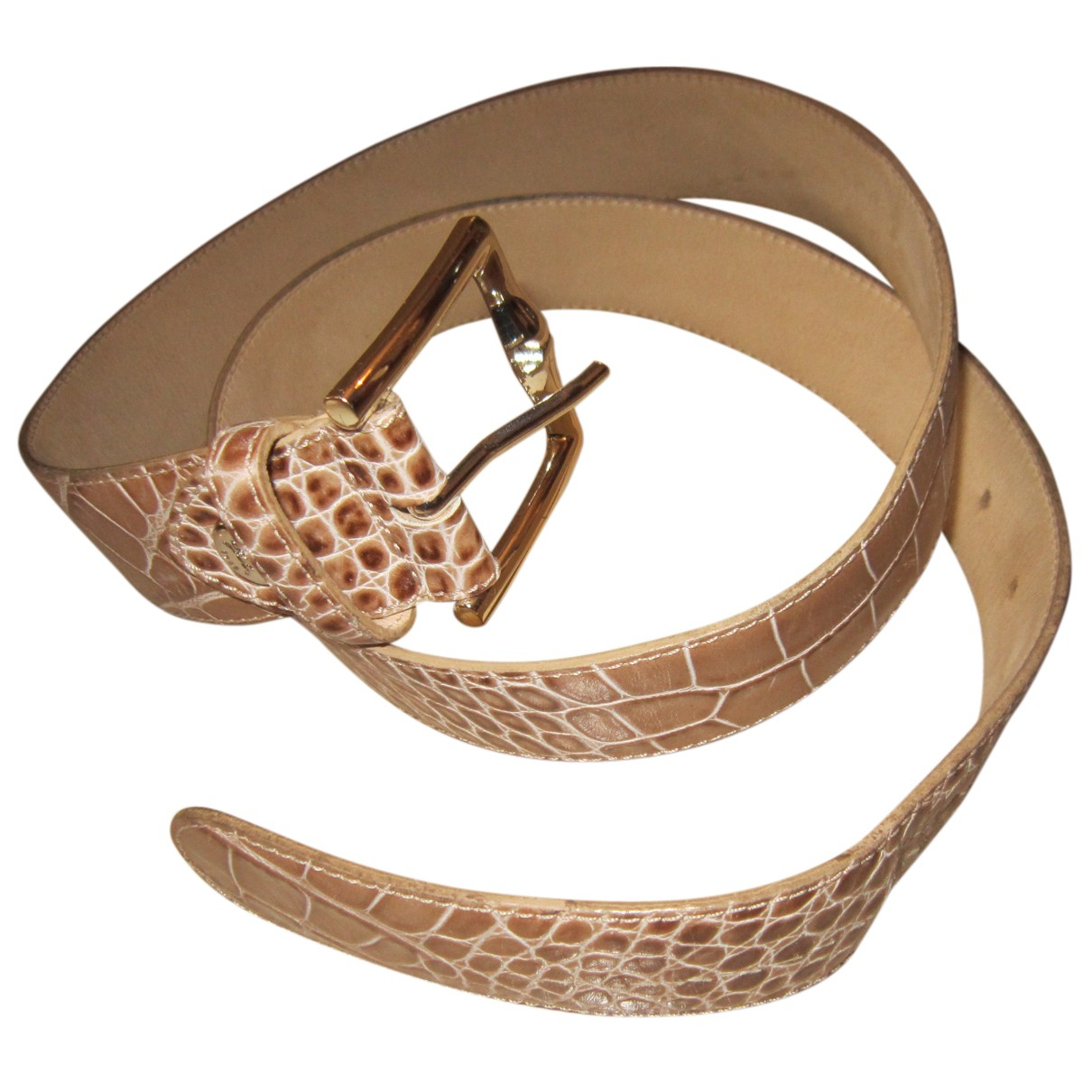 Longchamp \N Guertel in  Beige Leder