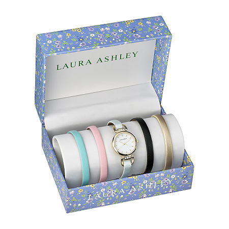 Laura Ashley Womens Gold Tone Bracelet Watch-Lass1104yg, One Size , No Color Family