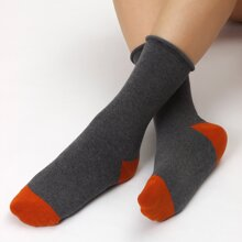 Zweifarbige Socken