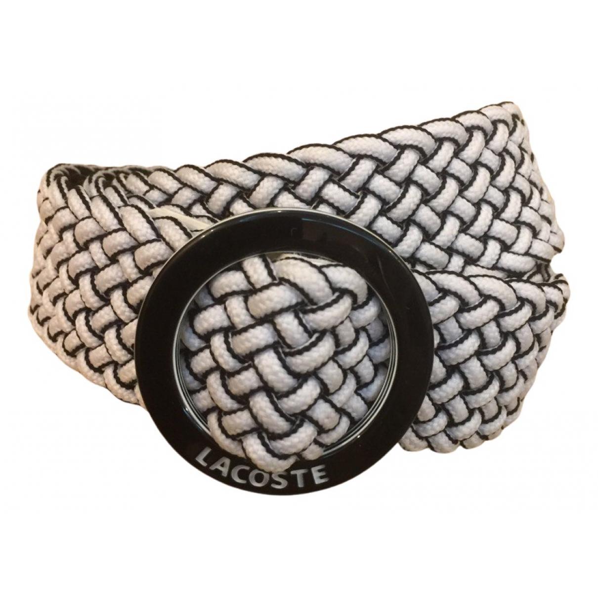 Lacoste N White Cloth belt for Women 85 cm