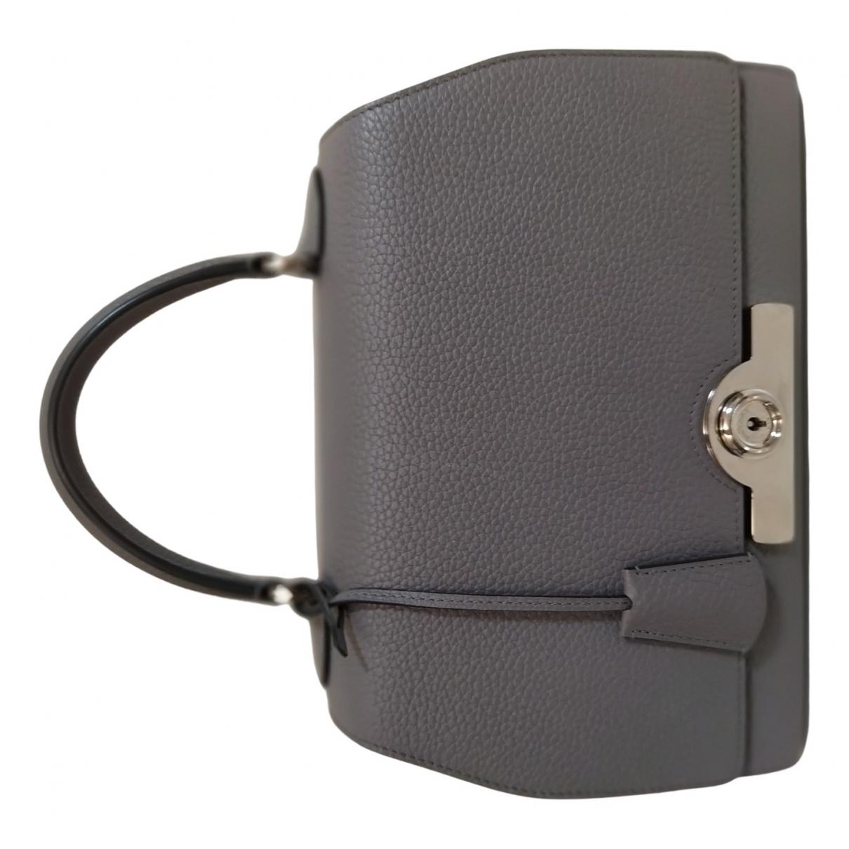 Moynat Paris \N Handtasche in  Grau Leder