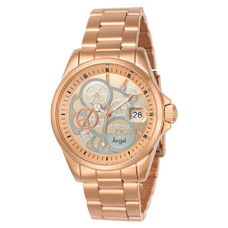 Invicta Angel Womens Rose Goldtone Stainless Steel Bracelet Watch-23569, One Size , No Color Family