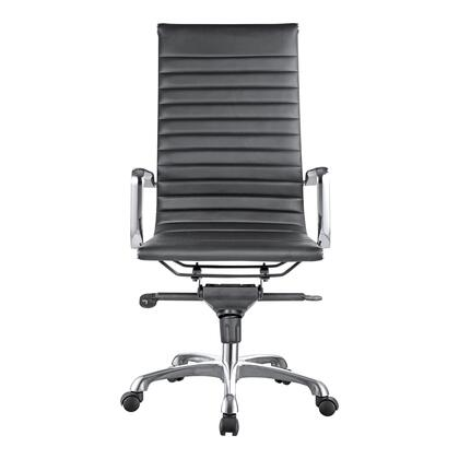 Omega Collection ZM-1001-02 Office Chair with Chromed Steel Frame in Black