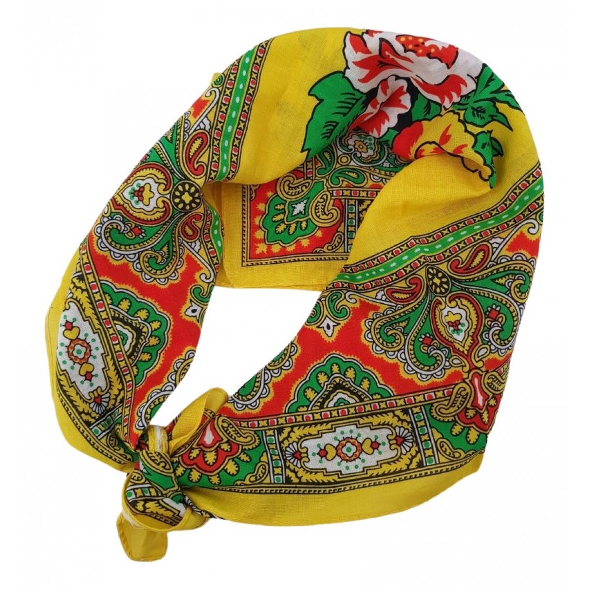 Kenzo - Foulard   pour femme en coton - jaune