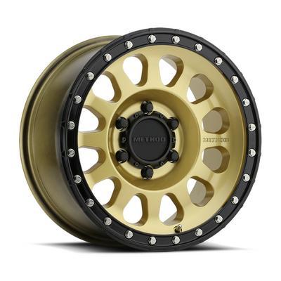 Method Race Wheels 315, 17x8.5 Wheel 8 on 6.5 Bolt Pattern - Gold / Black - MR31578580100