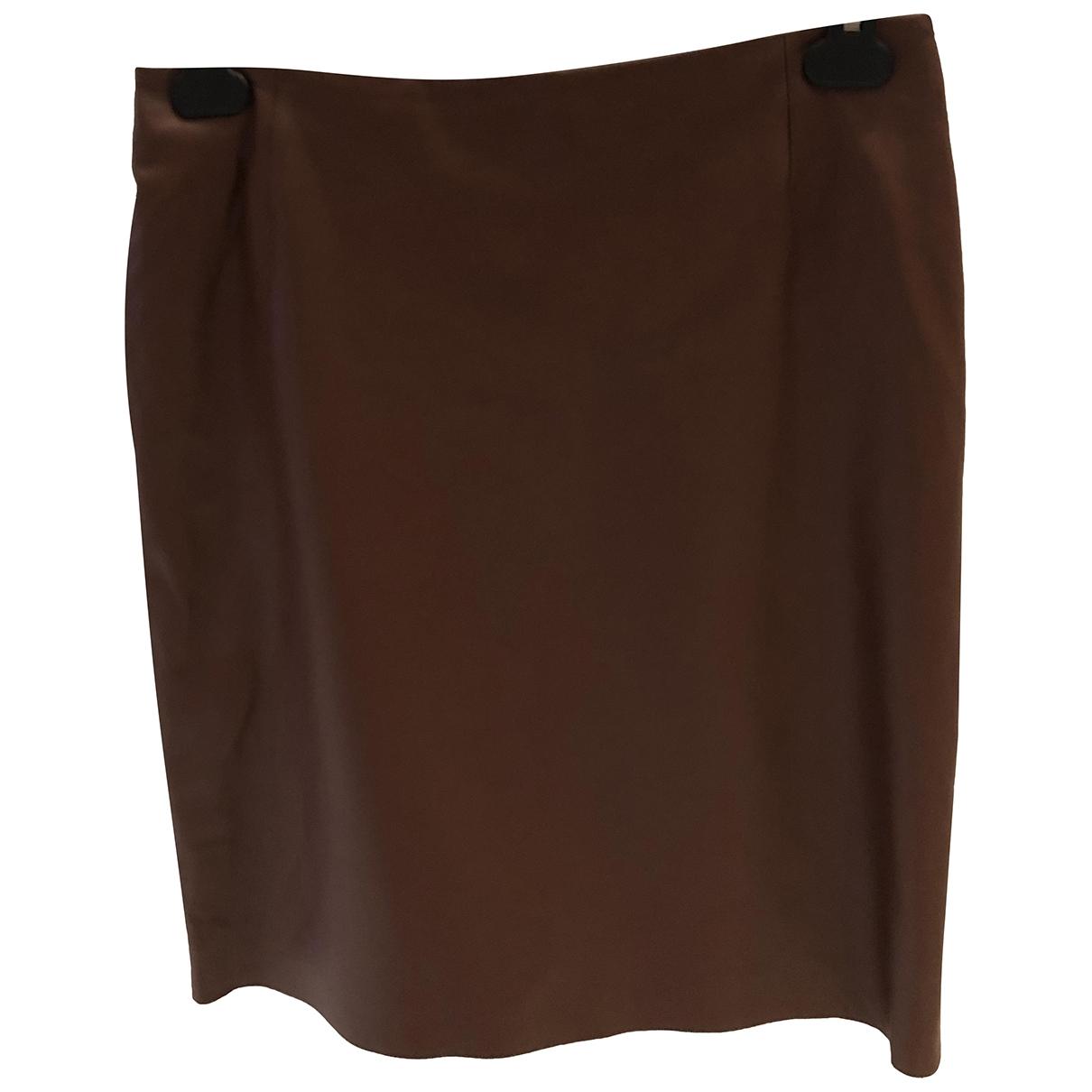 Trussardi - Jupe   pour femme en cuir - marron