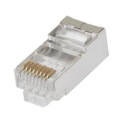 8P8C Connecteur blindé RJ45 pour câble Ethernet Cat6 toronné, 100 pcs / paquet - Monoprice®
