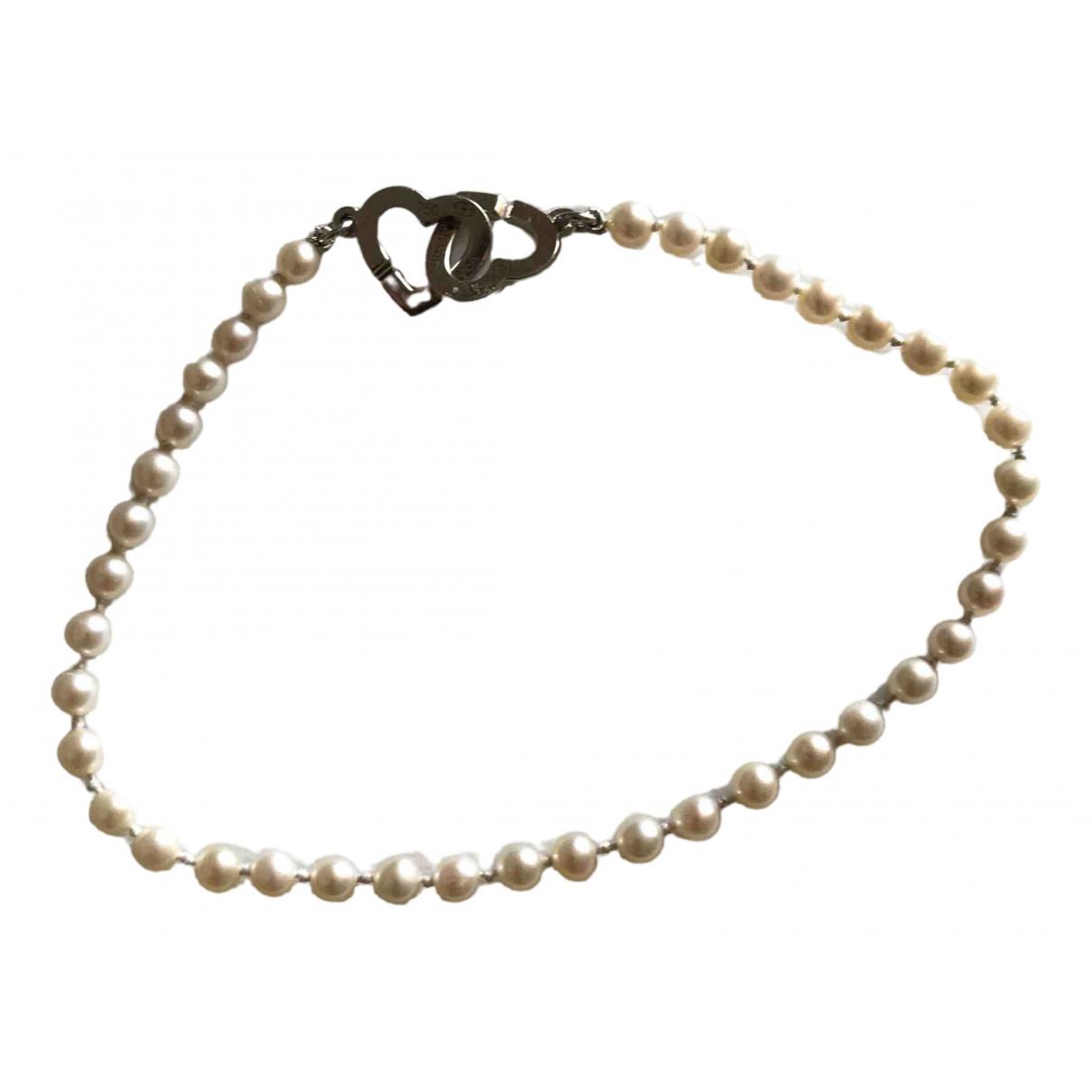 Dinh Van - Bracelet Double Coeur pour femme en perle - argente