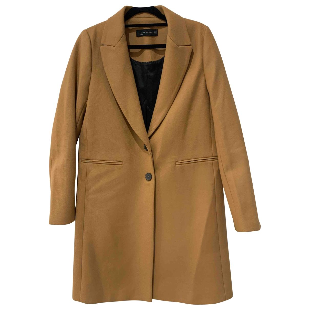 Zara \N Camel Wool coat for Women M International