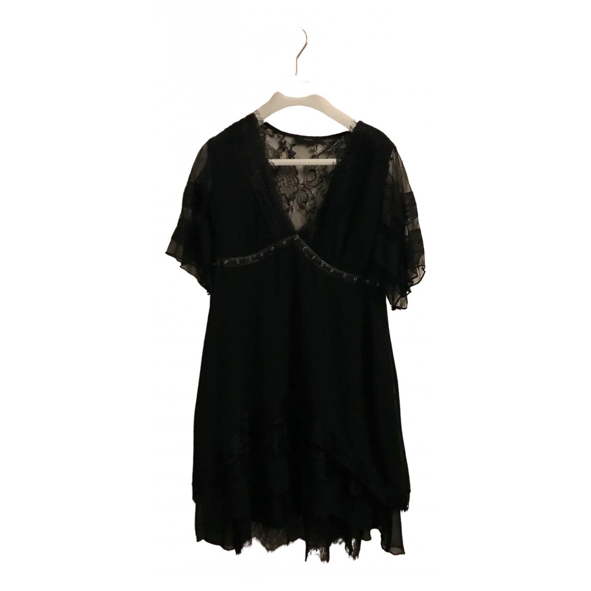 Diesel \N Kleid in  Schwarz Polyester