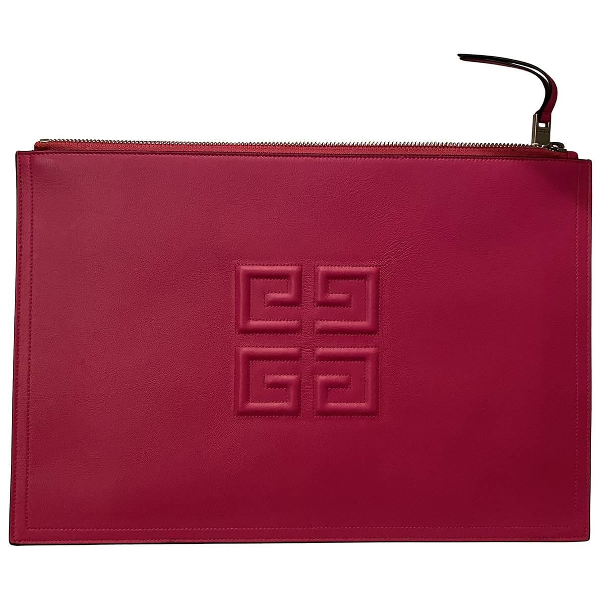 Givenchy \N Clutch in  Rosa Leder