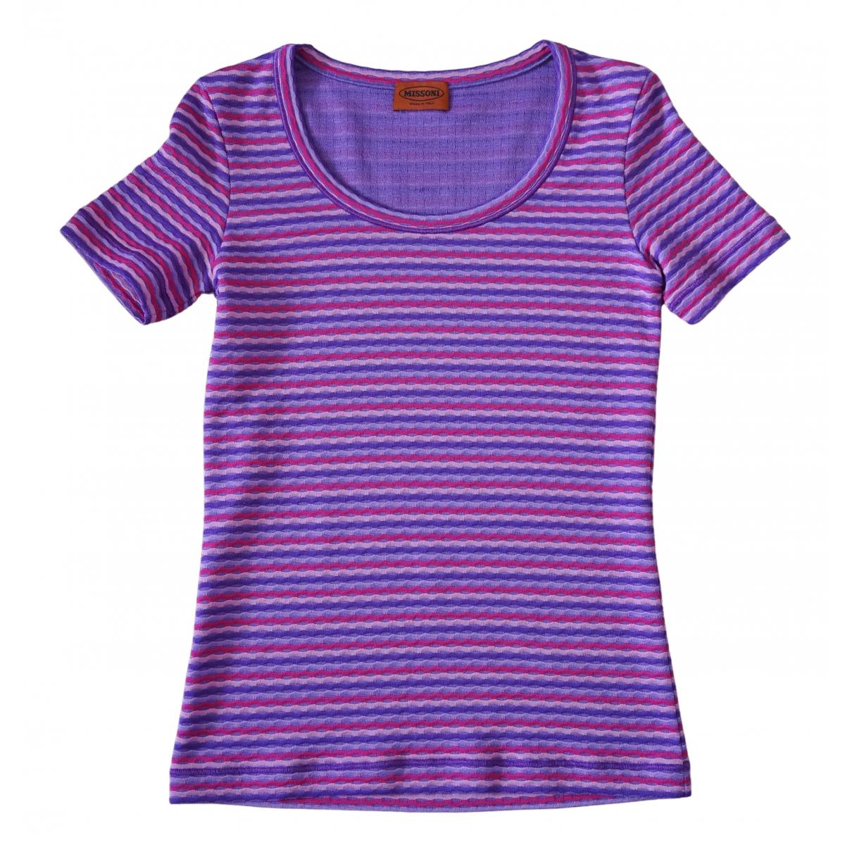 Missoni \N Purple Cotton  top for Women 42 IT