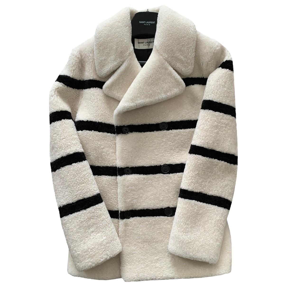 Saint Laurent \N White Shearling coat  for Men 46 FR