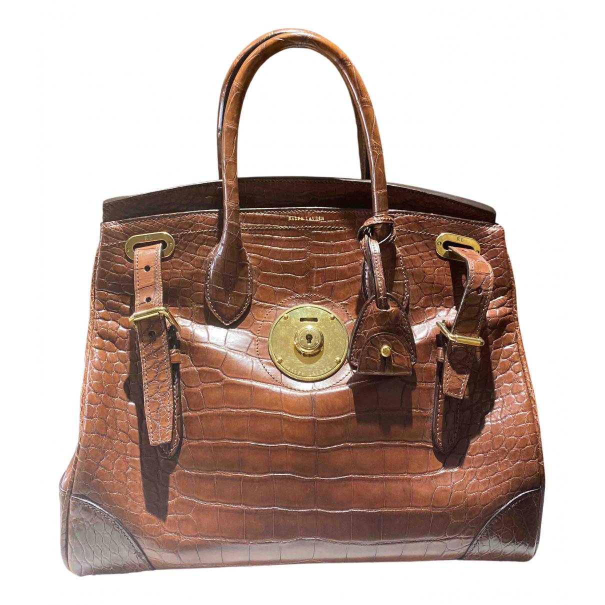 Ralph Lauren \N Handtasche in  Braun Aligator
