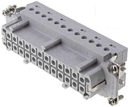 TE Connectivity HE Series size 8 Connector Insert, Female, 24 Way, 16A, 400 V