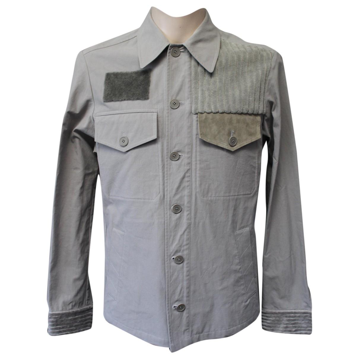 Bottega Veneta \N Grey Cotton Shirts for Men 48 IT