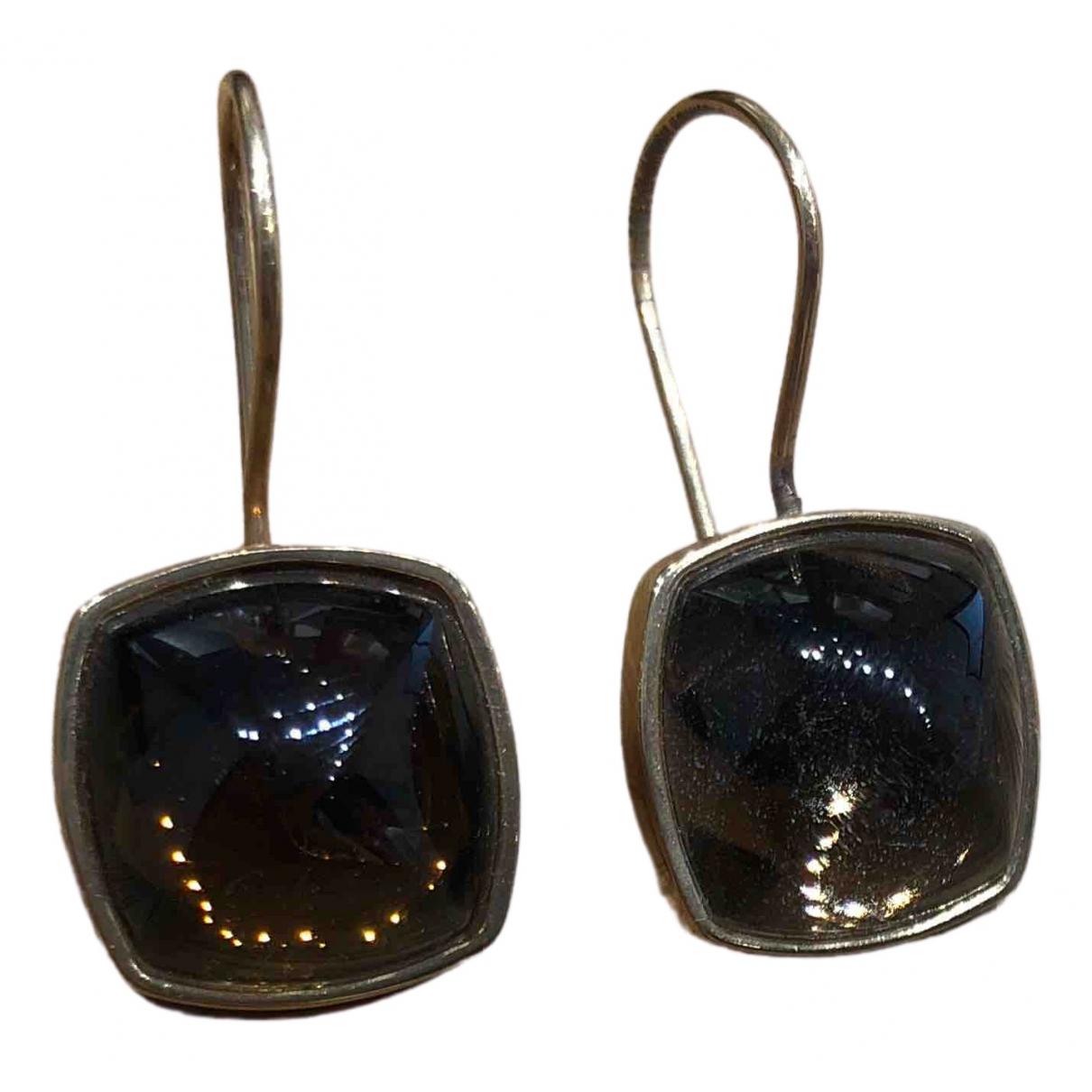 Baccarat - Boucles doreilles   pour femme en cristal - camel