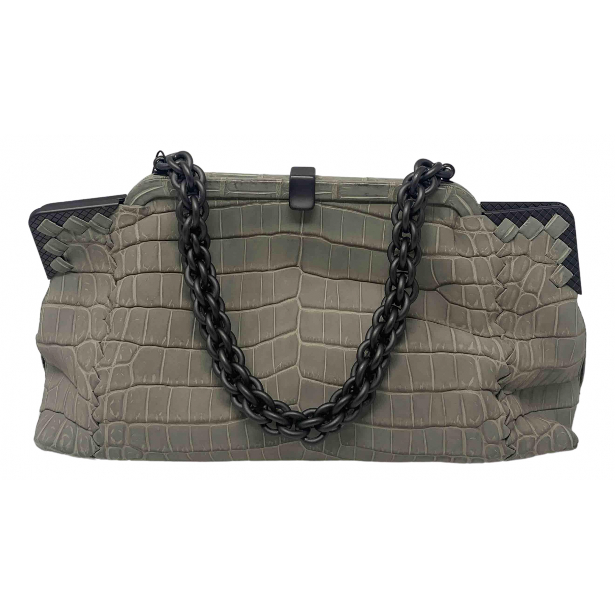 Bottega Veneta \N Grey Crocodile handbag for Women \N