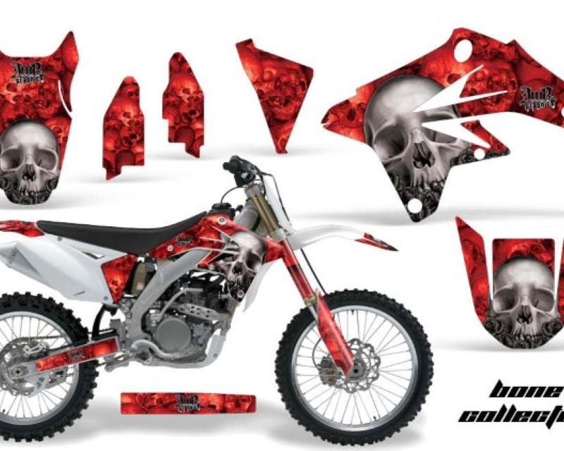 AMR Racing Dirt Bike Graphics Kit Decal Sticker Wrap For Suzuki RMZ250 2007-2009áBONES RED