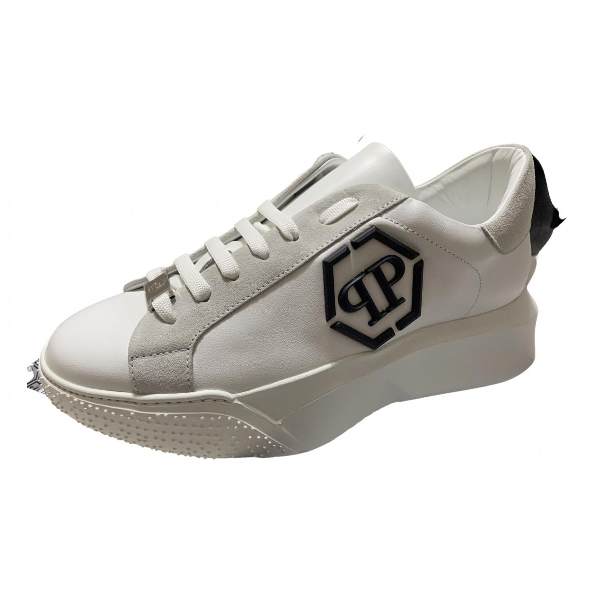 Philipp Plein - Baskets   pour homme en caoutchouc - blanc
