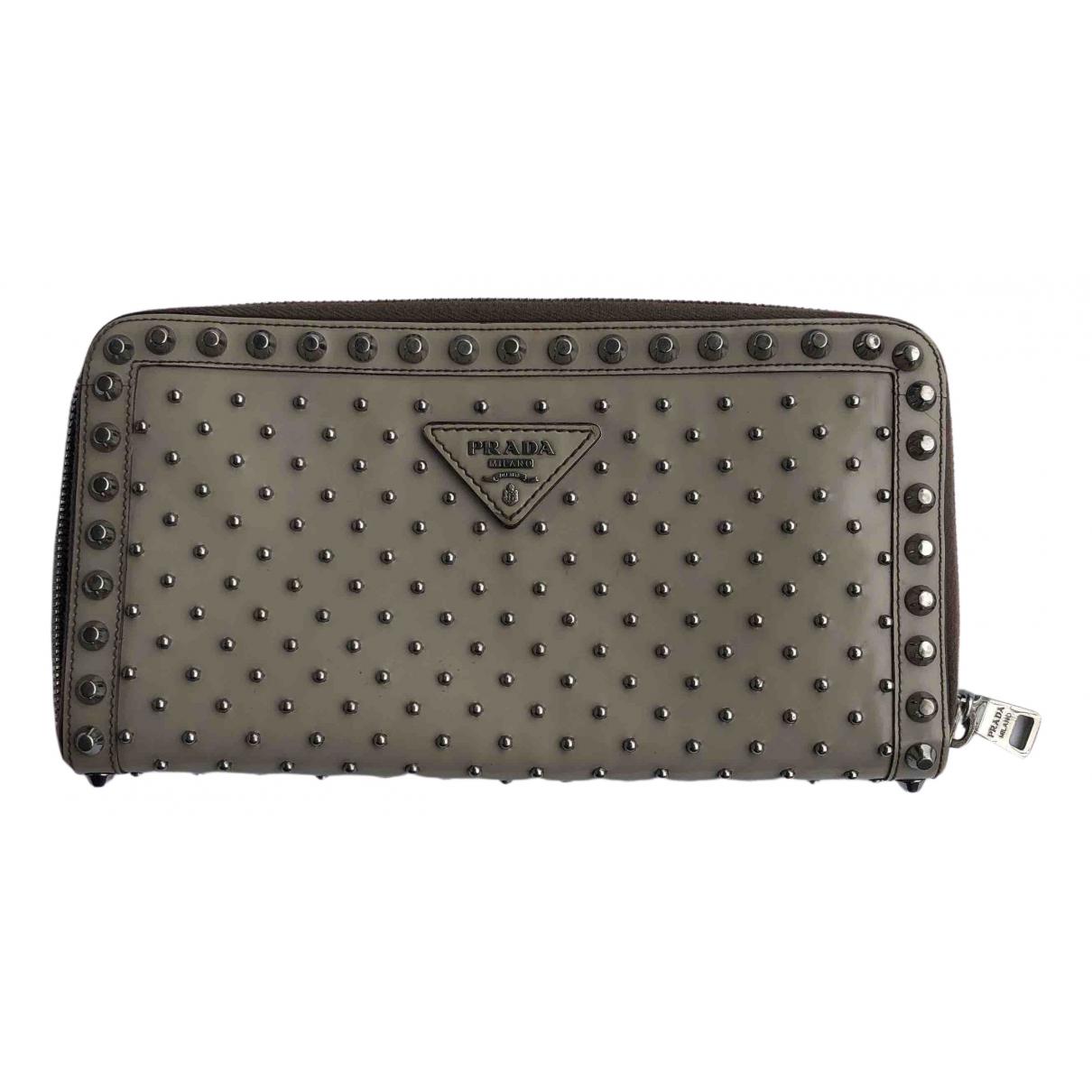 Prada \N Grey Leather wallet for Women \N