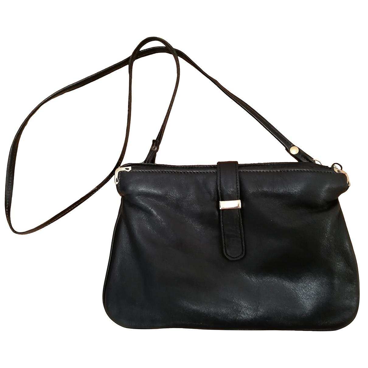 Comtesse \N Handtasche in  Schwarz Leder