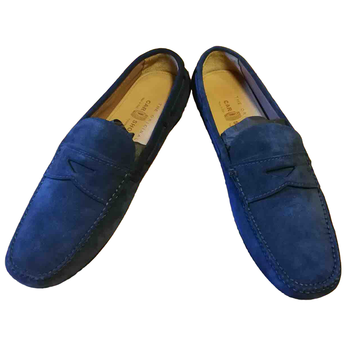 Carshoe \N Blue Leather Flats for Men 9 UK