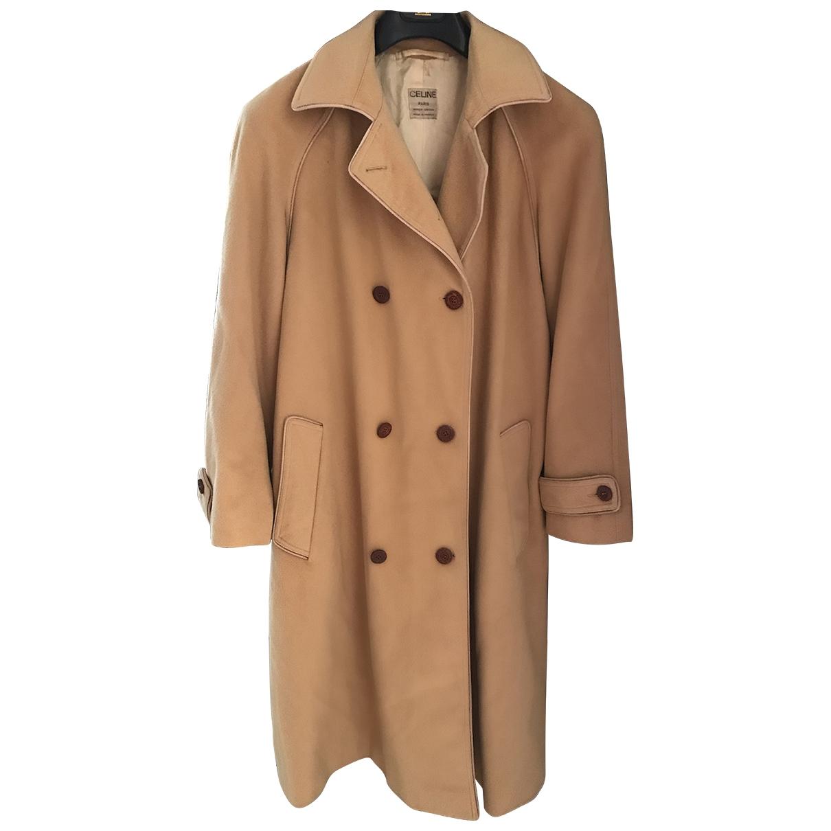 Celine - Manteau   pour femme en laine - camel