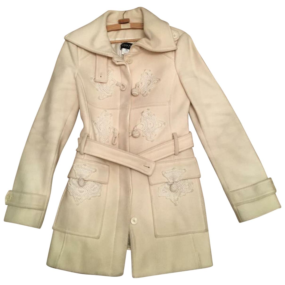 Patrizia Pepe - Manteau   pour femme en laine - blanc