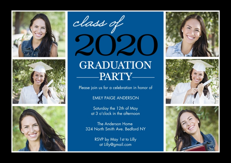 2020 Graduation Invitations 5x7 Cards, Premium Cardstock 120lb with Scalloped Corners, Card & Stationery -Graduation Invite Stack 2020 by Tumbalina