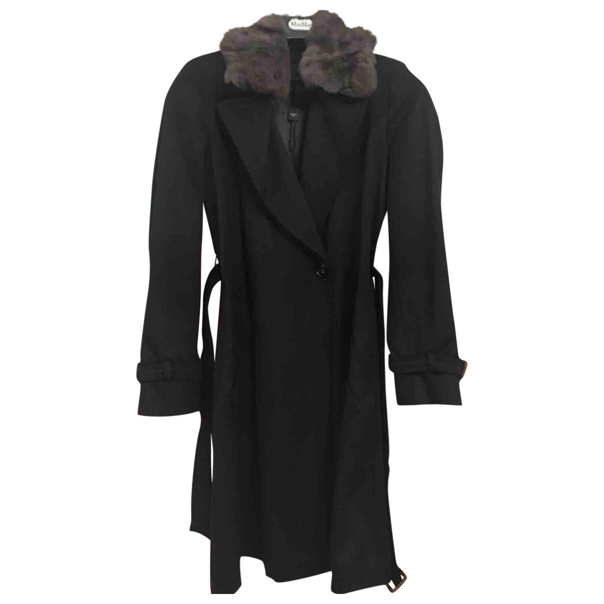 Max Mara Weekend - Manteau   pour femme en laine - noir