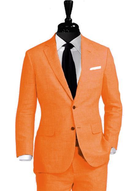 Alberto Nardoni Notch Lapel Linen Suit Coming September/1/2017