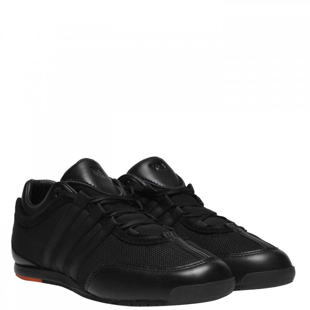 Y-3 Black Orange Mesh Trainers Colour: BLACK, Size: 6