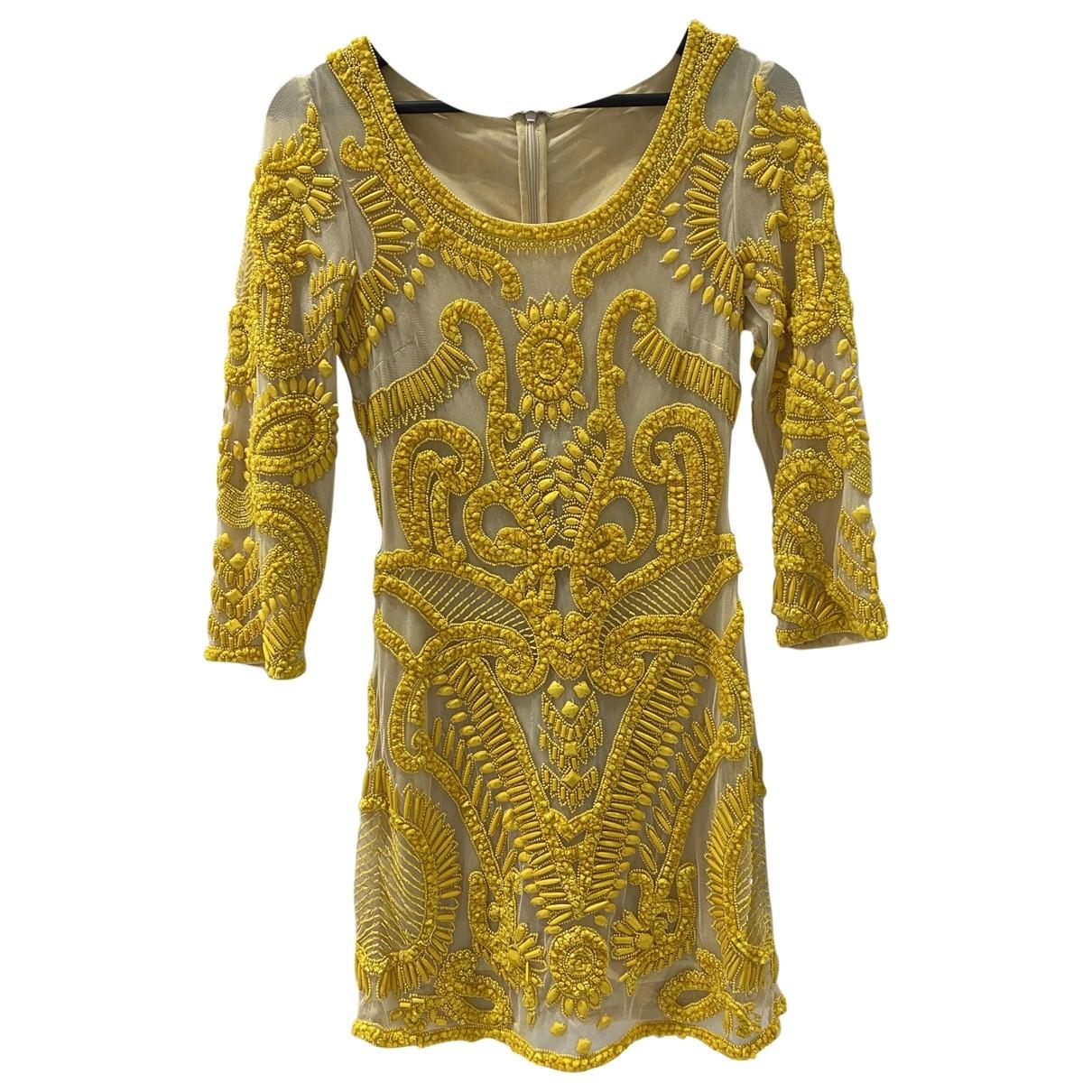Non Signe / Unsigned \N Kleid in  Gelb Baumwolle - Elasthan