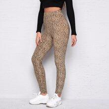 Leggings de leopardo de cintura alta