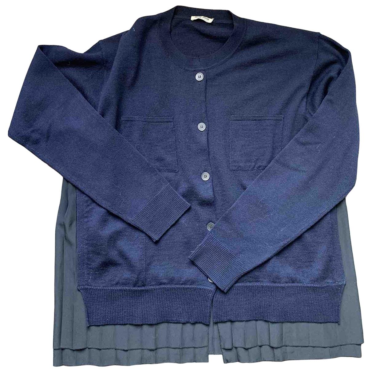 Miu Miu \N Pullover in  Marine Wolle