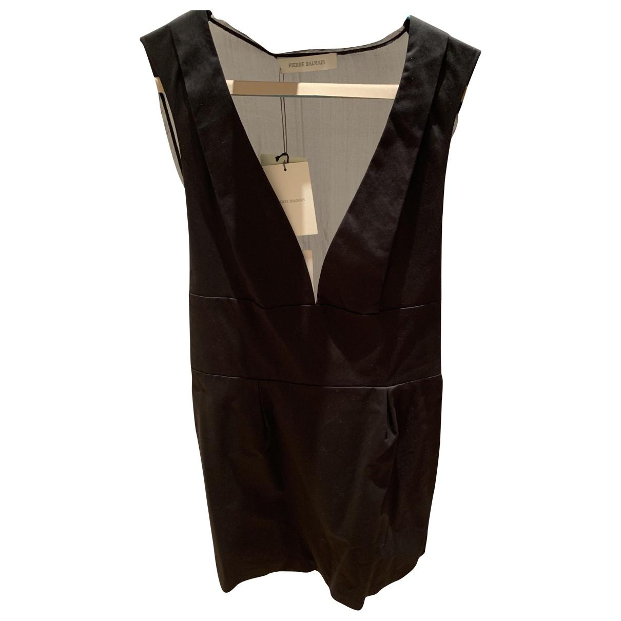 Pierre Balmain \N Kleid in  Schwarz Baumwolle