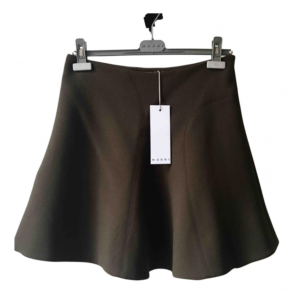 Marni N Khaki Wool skirt for Women 38 IT