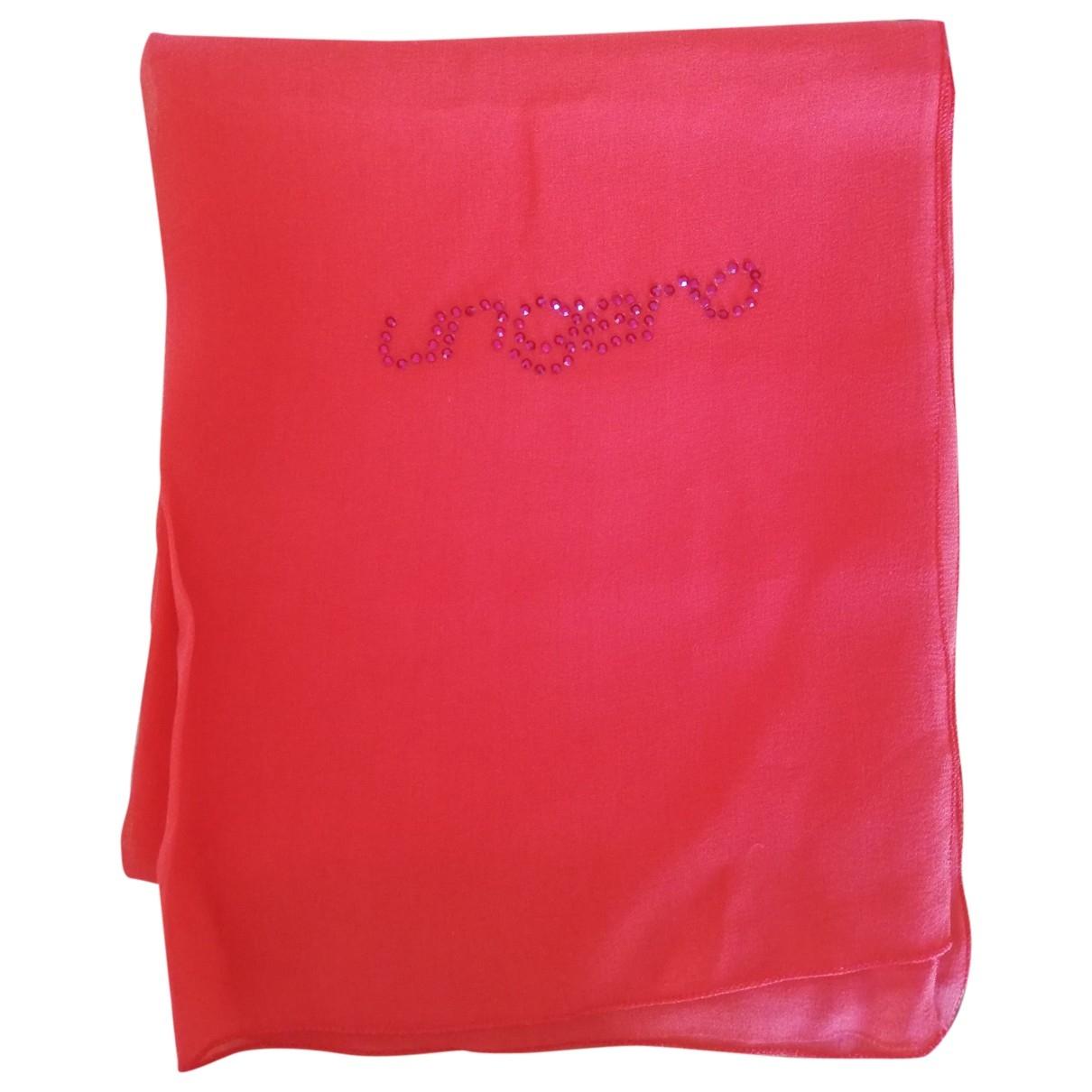 Emanuel Ungaro - Foulard   pour femme en soie - rouge