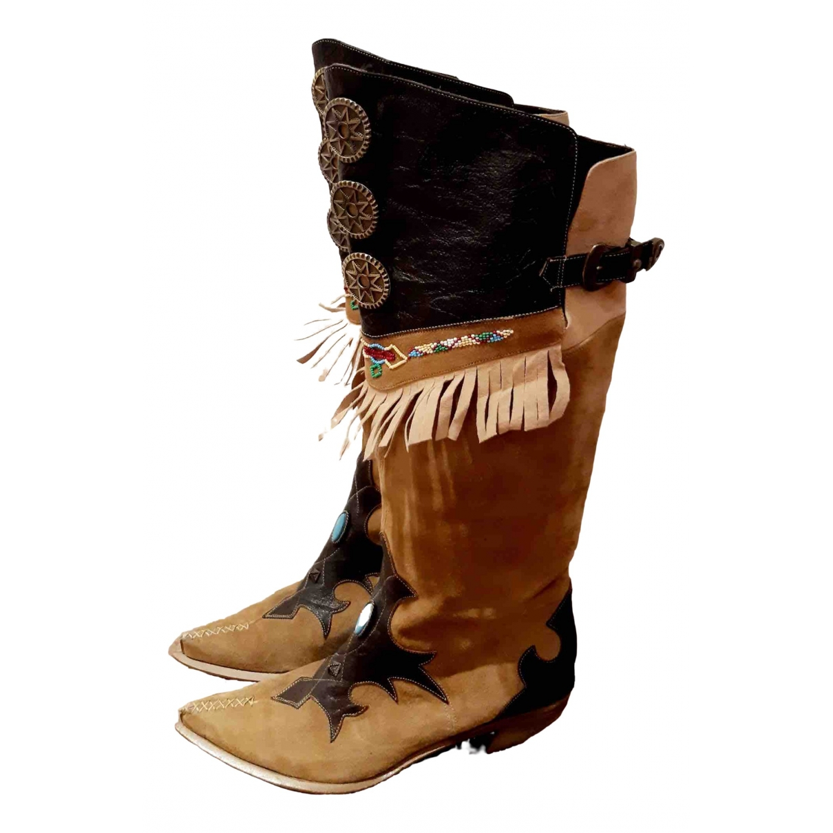 Non Signé / Unsigned \N Multicolour Leather Boots for Women 41 EU