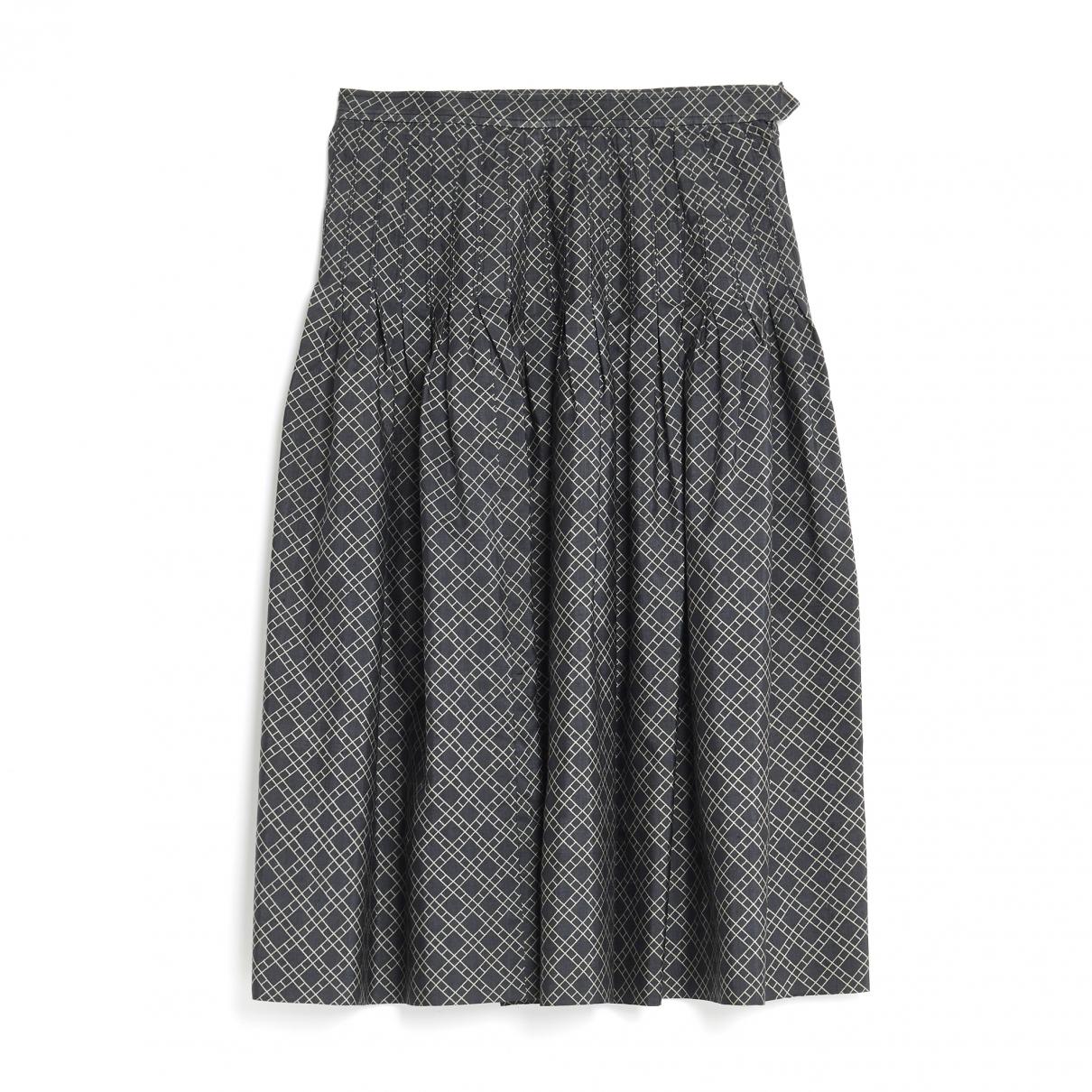 Yves Saint Laurent - Jupe   pour femme en soie - gris