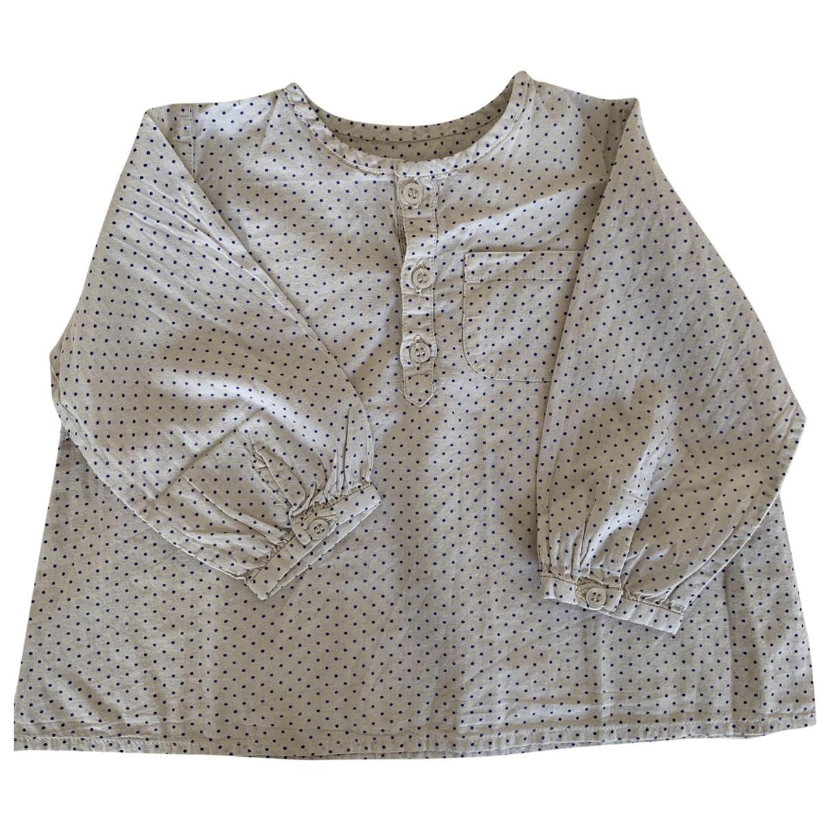 Bonpoint \N Oberteile in  Beige Baumwolle